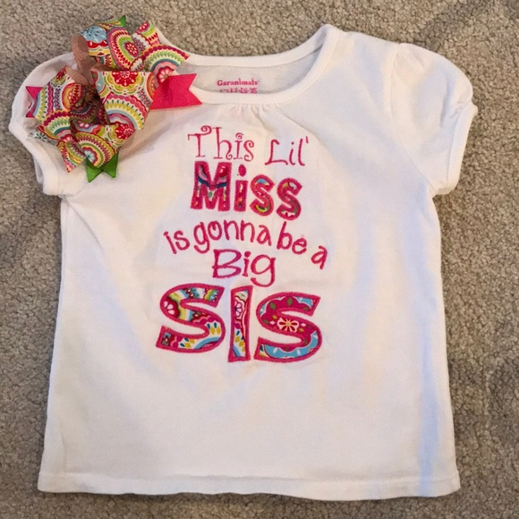 Shirts Tops Big Sister Announcement Shirt Poshmark